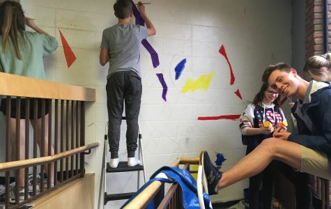 Aesthetic Artists Paint MHS a New Mural