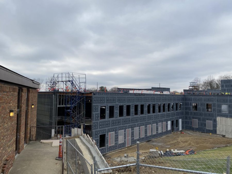 The walls have been added and the structure of the building is really starting to show. PHOTO BY KOEHLER