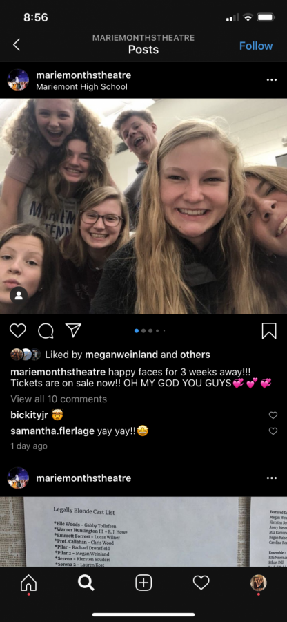 Mariemont High School's instagram posted on Feb. 15th, announcing the release of ticket sales