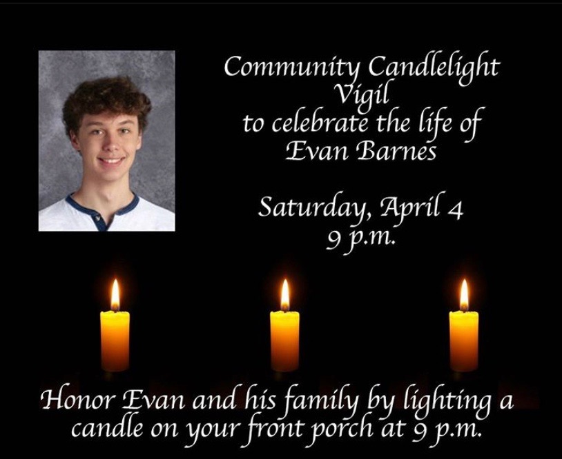 Instagram post from @mariemontschools about the candlelight vigil