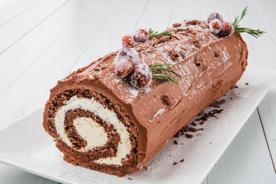 Yule Log Cake (PHOTO FROM Delish.com)
