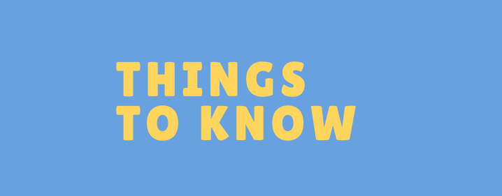 Things to Know Week of 4/12-4/18