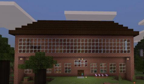 Minecraft house built by Cricket Collister (PHOTO BY COLLISTER)