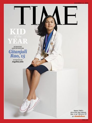 "Gitanjali Rao on the cover of ""Time Magazine""."